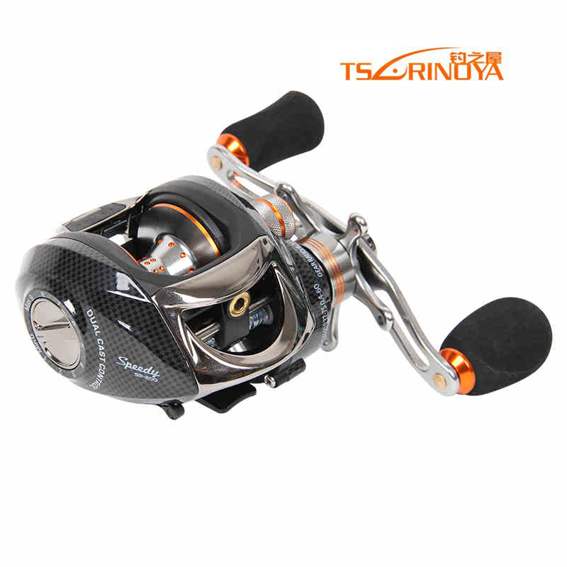 TRULINOYA Bait Casting Reel 13+1 Bearings 2 Control Systems Left Right Hand Centrifugal & Magnetic Reel Fresh Water Moulinet abu garcia revo3 sx hs hs l 10bb 7 1 1 bait casting reel super smooth low profile water drop wheel left right hand max drag 9kg