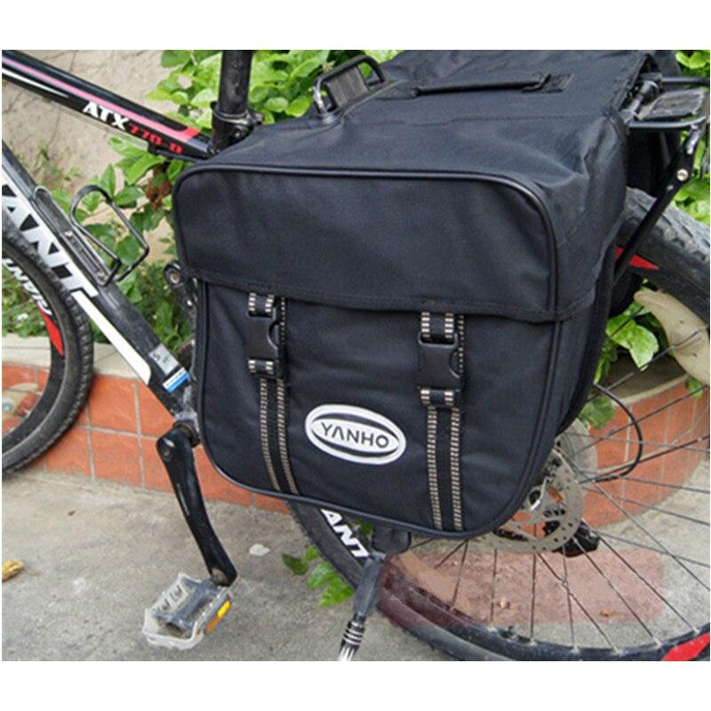 YANHO Multifonctionnel Sacs De Vélo pour le Vélo De Montagne Arrière Pack Sac 600D Grande Capacité Vélo Porte-Bagages Arrière Sac Accessoires Vélo