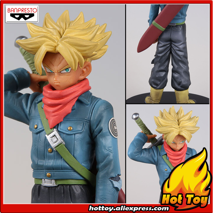 100% Original Banpresto DXF THE SUPER WARRIORS  vol.2 Collection Figure - Super Saiyan 2 Trunks from Dragon Ball SUPER 32cm dragon ball super the super warriors vol 3 figure collection goku black action figure