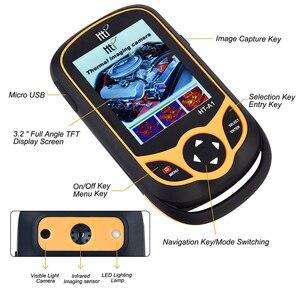 Image 4 - Ręczna kamera termowizyjna 3.2 calowy ekran wyświetlacza kamera na podczerwień polowanie pomiar temperatury funkcje obrazowania termicznego