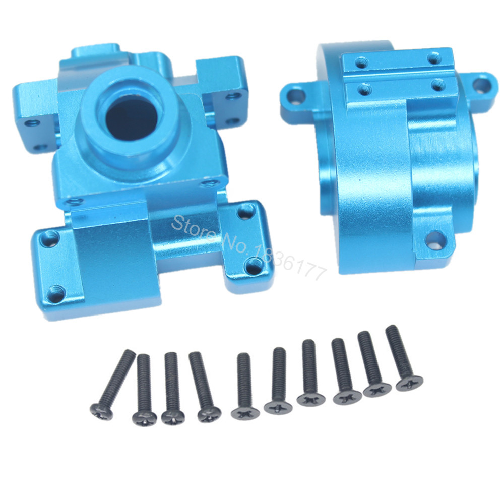 RC HSP 122075 Aluminum Gear Box with Screw 02051 Transmission Set 1:10th Upgrade Parts Fit Himoto Redcat Racing free shipping hsp 1 10 speed reduction gear set differential gear box 02126 spare parts fit for 94101 1 10 rc car