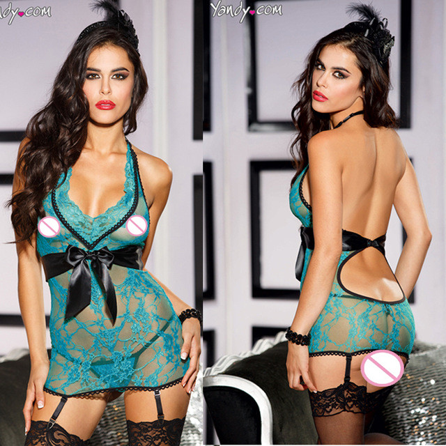 Plus-Size-Super-Sexy-Slips-Women-s-Lace-Sleepwear-3-Pcs-Hot-Suspender-Garter-Slips-Set