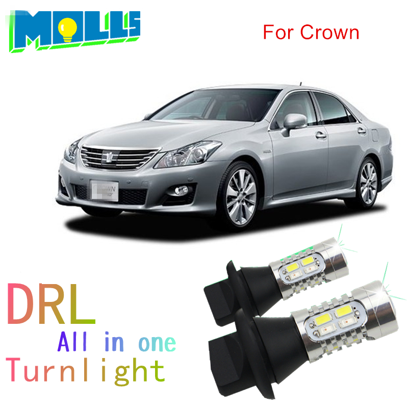Shinman WY21W 7440 T20 led DRL Daytime Running Light& Front Turn Signals all in one auto led light for toyota crown night lord for nissanteana wy21w 7440 t20 winker blinker led drl