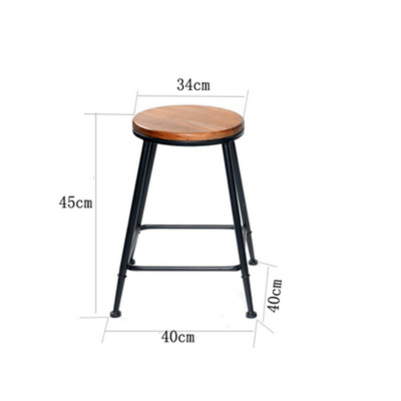 Furniture Modern Simple Bar Chair And Table Pu And Iron Art Coffee Shop Luxurious Style High Stool Stool Desk Chair Set Dining Table Chair Bar Furniture