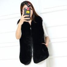 2017 New arrival elegant slim 100% real natural fox fur vests gilet high quality whole pelt black fur vests for women