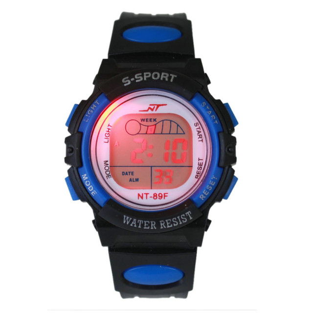 HOT Multifunction Chidren Digital Watches Boys Girls Child Rubber Sports Electro