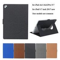 360 Degree Rotating Case For IPad Air 2 Air 1 Smart PU Leather Sleeve Fashion Cloth