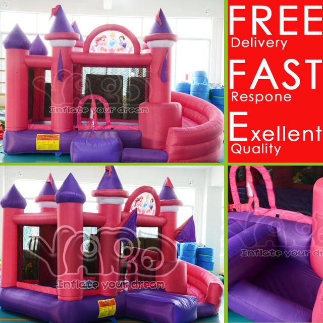 DHL FRETE Grátis Grande Princesa Castelo inflável, Crianças Meninos Meninas brinquedos para presentes De Aniversário, excelente Inflável Castelo