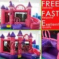 ENVÍO LIBRE de DHL Gran Princesa Castillo Hinchable, Niños Niños Niñas juguetes para regalos de Cumpleaños, Castillo Inflable excelente