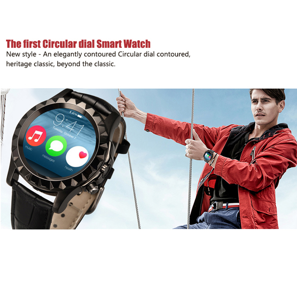 100 Original Leather S2 Bluetooth BT3 0 Smart Watch Waterproof Wrist T2 Smartwatch For IOS Android