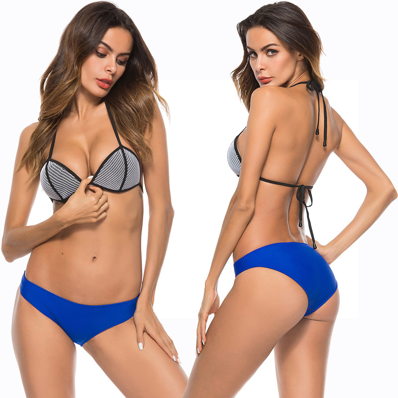2 Piece Set Women Fashion swimsuit bikini Solid Sexy Split Swimsuit Bikini Swimsuit Beachwear Bathing Suit