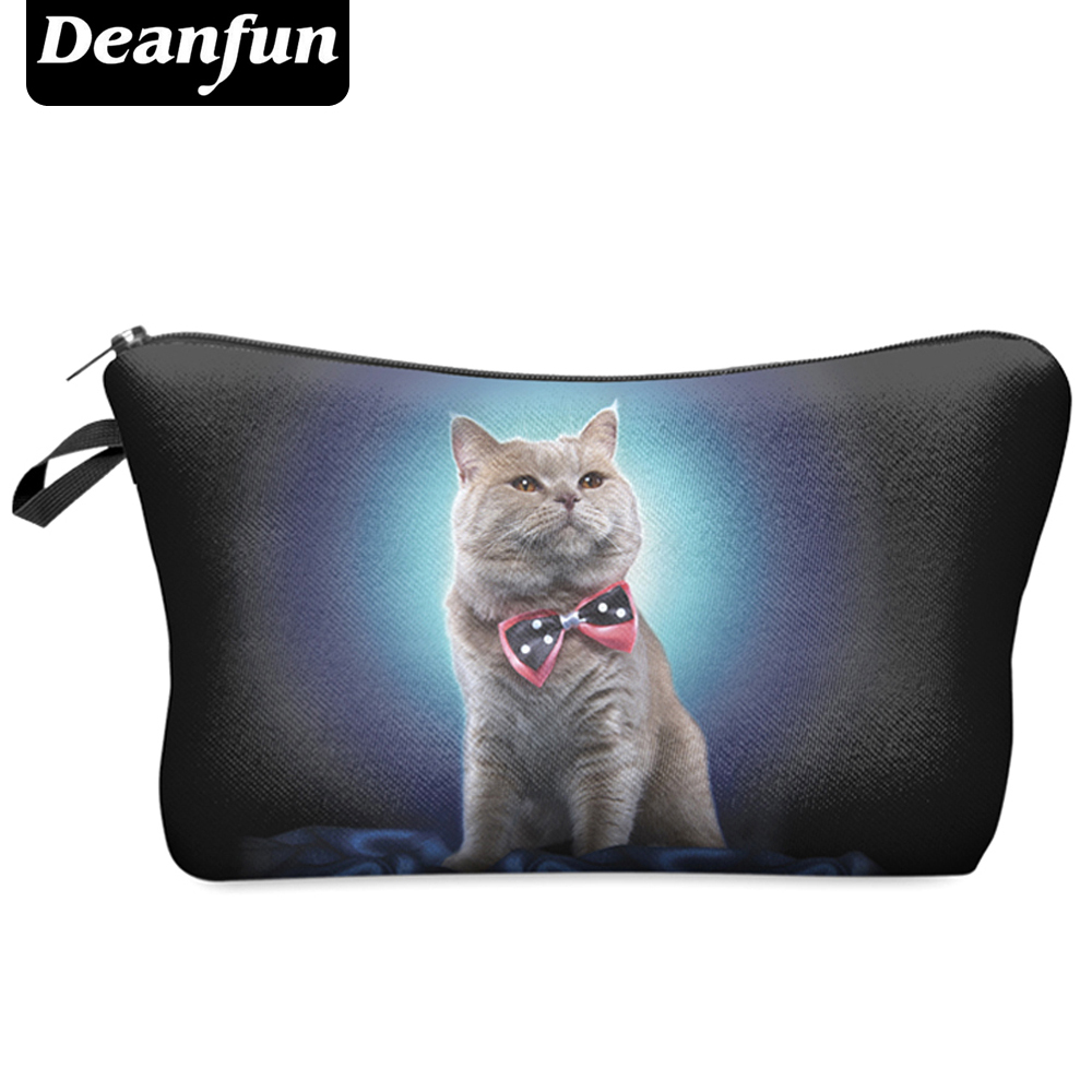 Deanfun 2017 New Fashion 3D Printing Women Cosmetic Bags With Animal Pattern for Traveling easy taking HZB7