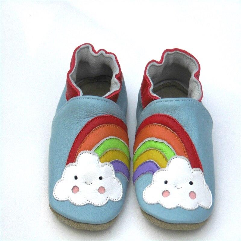 Гарантия мягкая детская обувь из натуральной кожи обувь для мальчика Детские пинетки для новорожденных из овечьей кожи Первые ходунки - Цвет: Небесно-голубой