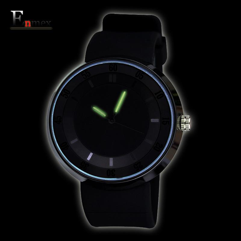 Prix pour 2017 hommes de cadeau enmex hommes femmes creative lumineux mains montre-bracelet étanche conception lumière sport mode casual montres à quartz