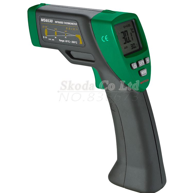 MASTECH MS6530 Digital Non-contact Infrared Thermometer gun Tester IR Temperature Meter t010 new digital temperature meter tester mastech ms6520a laser pointer non contact infrared ir thermometer free shipping