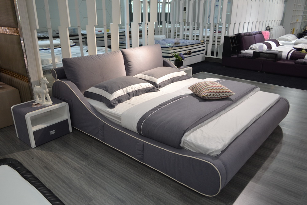 Popular leather king bed buy cheap leather king bed lots for King divan bed sale