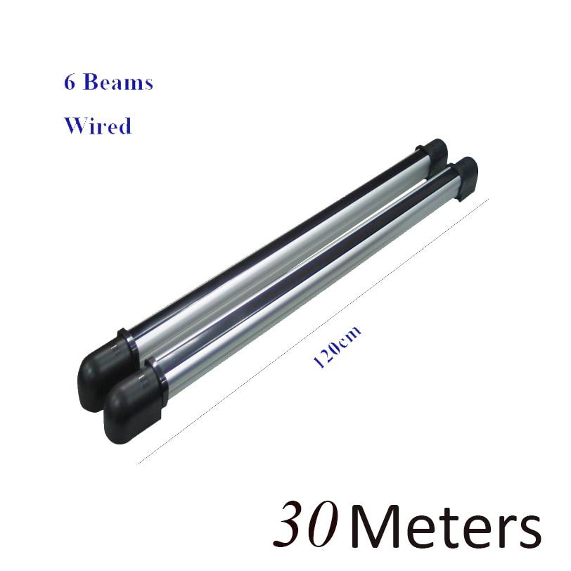 GZGMET 6 beams Digital Active Infrared IR Beam Sensor Photoelectric beam detector Perimeter Beam Barrier motion alarm