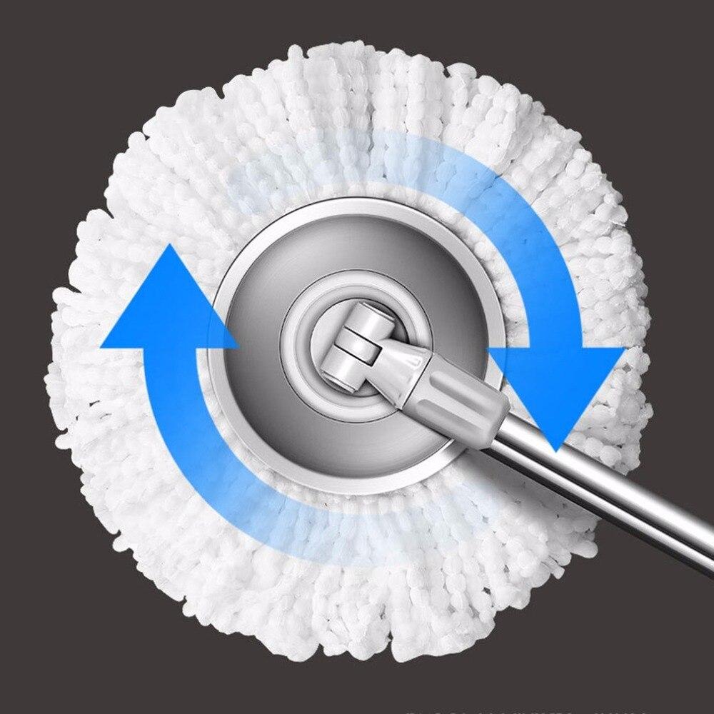Spin Mop Mop di Rotazione e Secchio Set di Ruote e 4 Teste Intelligente di Pulizia In Microfibra Mop Pavimenti Finestre Casa Cucina A 360 Gradi - 5