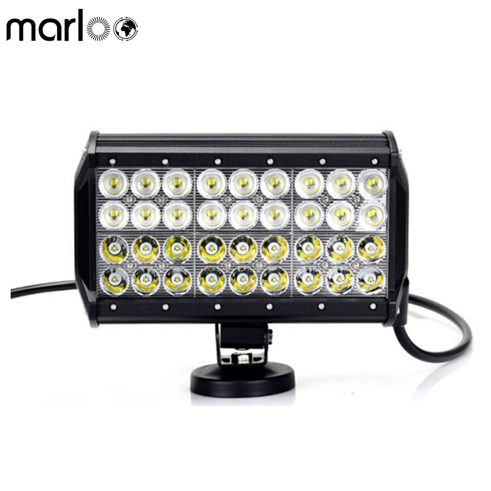Marloo 9 inch 108W LED Light Bar 4 Rows LED Work Light Driving 4WD Fog Lights For Jeep, Off-road, Truck, Car, ATV, SUV, 4X4 2pcs dc9 32v 36w 7inch led work light bar with creee chip light bar for truck off road 4x4 accessories atv car light