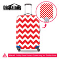 Waves Pattern Portable Elastic Travel Luggage Cover Stretch Protect Suitcase Cover Apply to 18-30 Inch Case Trolley Case Cover