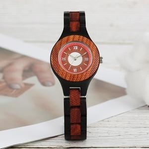 Image 4 - Wooden Watches 2018 Men Stripe Dapple Pattern Bamboo Strap Quartz Watch Nature Wood Creative Sport Fashion Clock for Male Gifts