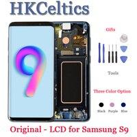 ORIGINAL SUPER AMOLED LCD Display mit Rahmen für SAMSUNG Galaxy S9 LCD und Touch Screen Voll Digitizer S9 + Plus g960 G965 LCDs