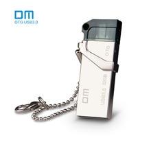 PD006 DM envío libre 16G 32G 64G USB3.0 con doble conector utilizado para teléfono inteligente OTG y computerwaterproof material metálico