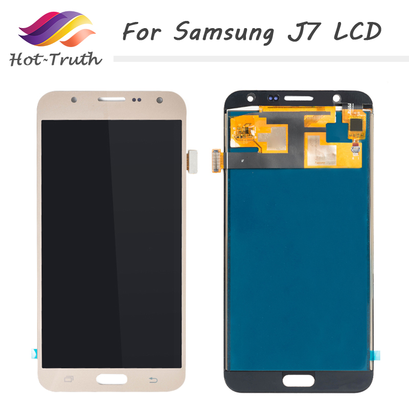 Hot-Truth 100PCS/Lot Screen Replacement For Samsung Galaxy J7 2015 J700 J700F LCD Display With Touch Screen Digitizer Assembly