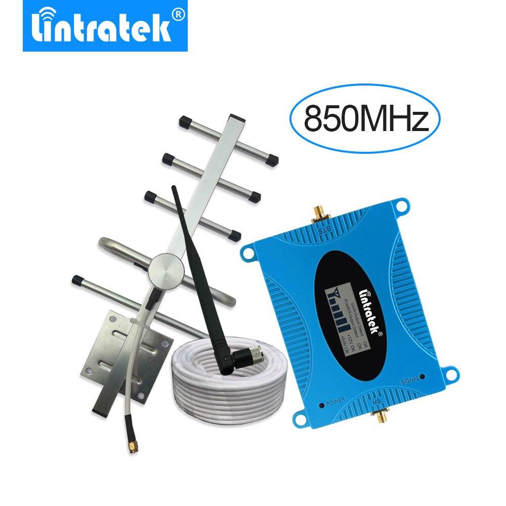 Lintratek Repetidor De Sinal De Celular 3G Signal Repeater UMTS 850MHz B5 Repetidor Celular Amplificador Yagi Antenna+10m Cable-