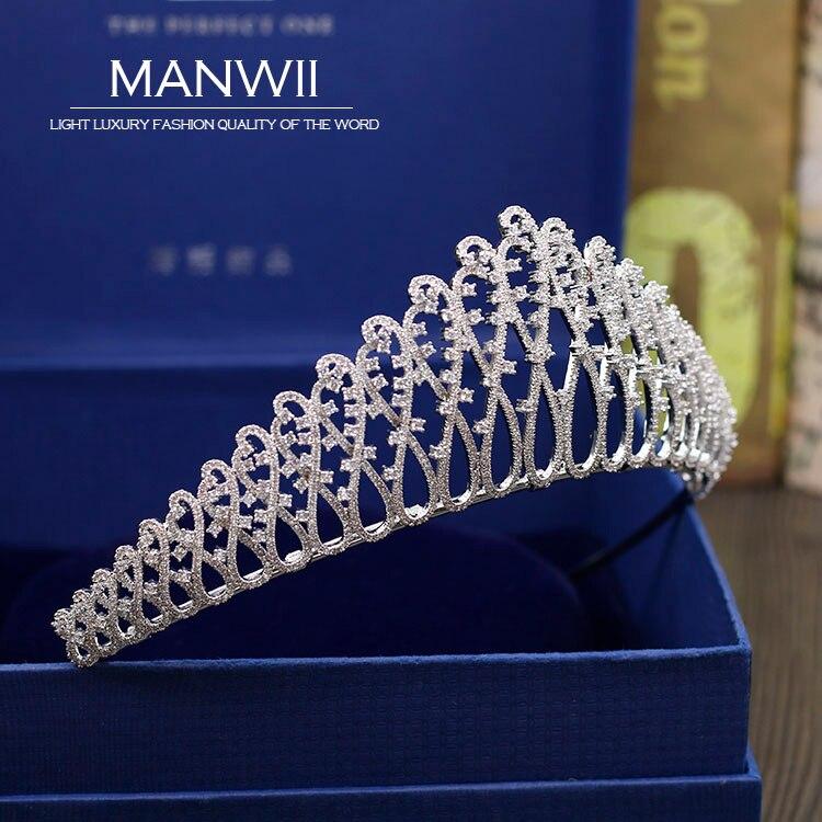 Здесь продается  MANWII New bride AAA zircon crowns and tiaras birthday gift wedding dress accessories pageant queen fashion hair jewelry HD2062  Ювелирные изделия и часы