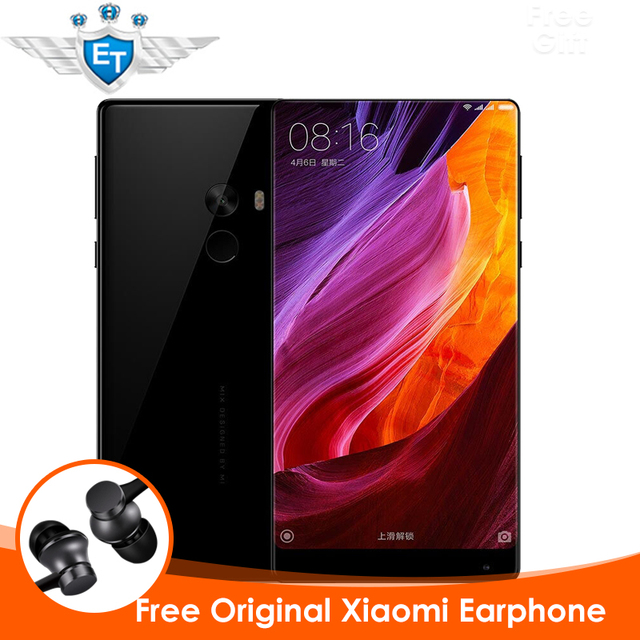 """Оригинал Xiaomi Mi Смешивания Смартфон 4 ГБ 128 ГБ Snapdragon 821 Quad Core NFC FDD LTE 4 Г 16.0MP 6.4 """"2040x1080 FHD 4300 мАч QC3.0 P"""