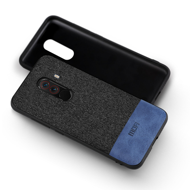 competitive price 68d63 af0ee Xiaomi Pocophone F1 Luxury Shockproof Fabric Back Case Cover