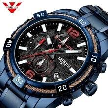 NIBOSI 2019 New Mens Watches Top Brand Luxury Quartz Watch Men Calendar Military Waterproof Sport Wrist Watch Relogio Masculino