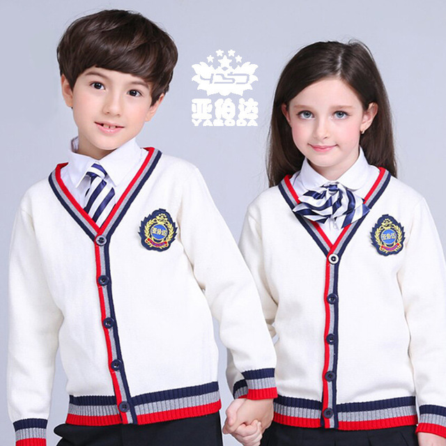 Navy Bluewhitegreypink 100 Cotton Womn Sweaters School Uniform