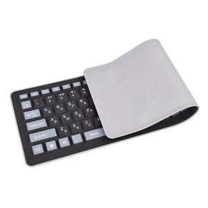Image 4 - 103keys Russian Keyboard Letters Silicon Teclado Layout USB Interface Russian Keyboard Flexible Teclado PC Desktop Laptop Wired