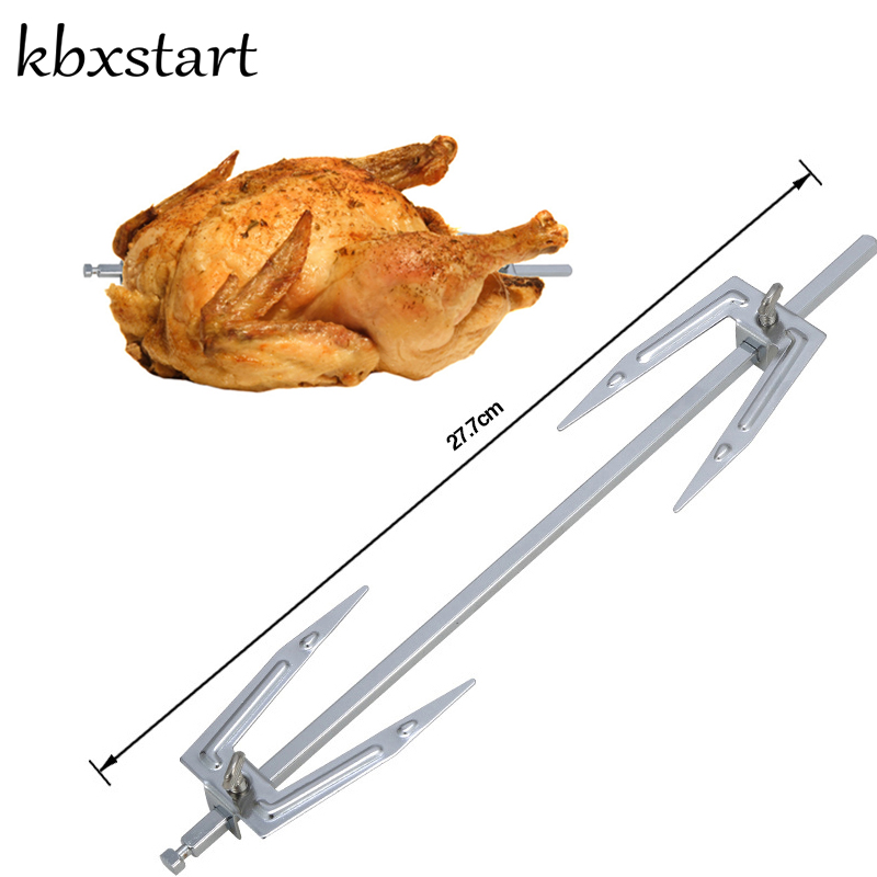 Grilled Roast Chicken Fork Stainless Steel Rotisserie Parts Air Fryer Accessories Electric Rotating BBQ Grill Barbecue Skewers image