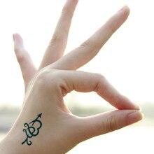 Arrow Lover heart blue temporary tattoo sticker tatoo womens body stickers  face gems hand body back fa5b8e0821a2