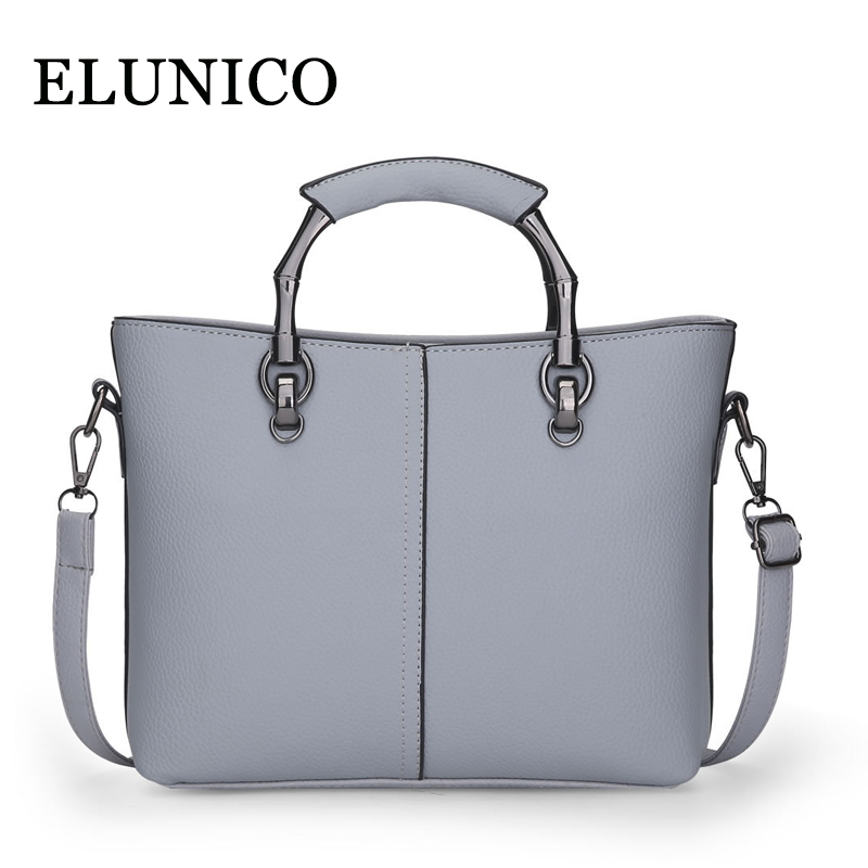ELUNICO Luxury Handbags Women Bags Designer Brand Fashion Tote Bag 2018 New Summer Female Casual Shopping Messenger Shoulder Bag