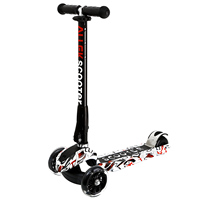 Scooter 3 Wheel Adjustable Height PU Flashing Wheels Kick Scooter With Patented Folding System For Kids