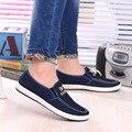2016 nueva primavera zapatos viejos Beijing zapatos de lona perezosos pedal zapatos de los hombres de moda azul de primavera y verano slip on flat zapatos