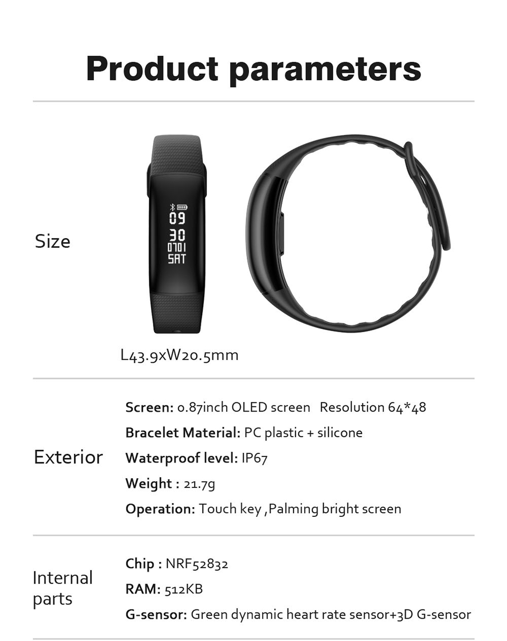 Detail Feedback Questions about Smart band A69 Smart wristband heart