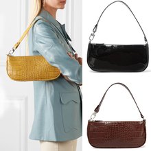 HOT SALE ! Crocodile Baguette Bag for Women Fashion Patent Leather Handbags Vintage Luxury Designer Tote Bags Brand Small Clutch