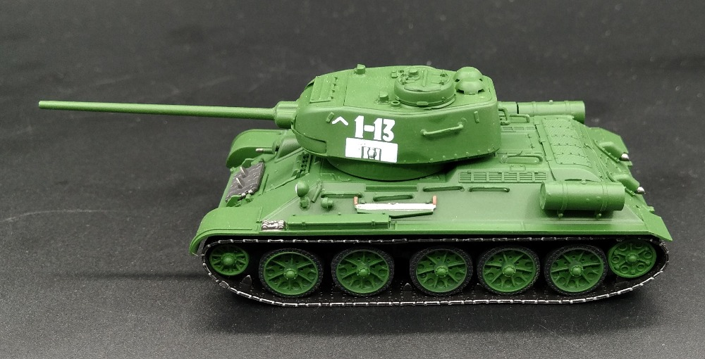 цена на Dragon 1:72 World War II Soviet T34 85 tank model Plastic finished model 60255 Collection model