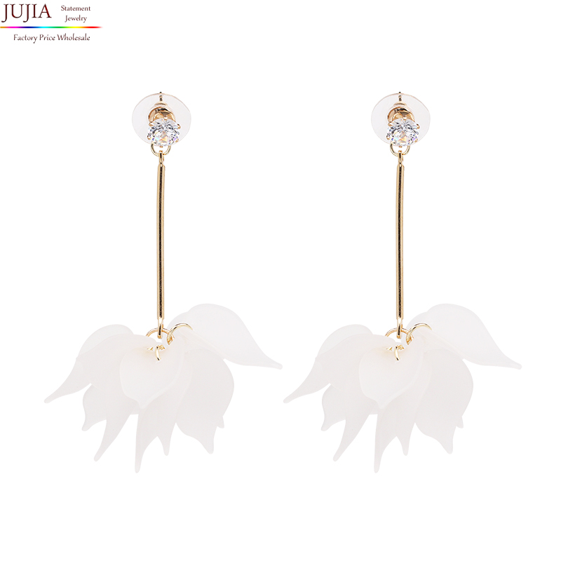 JUJIA Good quality New flower pendant earring fashion jewelry hot sale women earrring statement stud Earring for women ...