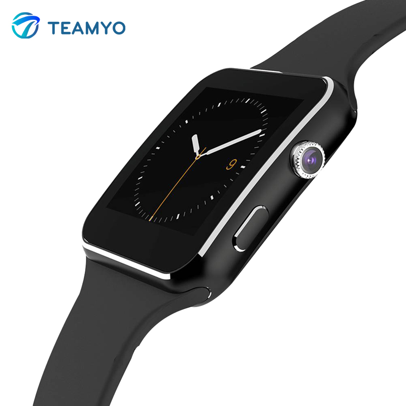 TEAMYO X6 Smart Watch Android Smartwatch HD Curved Display Sync Facebook Whatsapp Message Support Sim TF