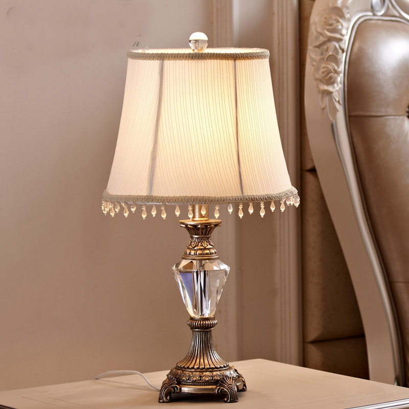 popular crystal table lampbuy cheap crystal table lamp lots from, Bedroom decor