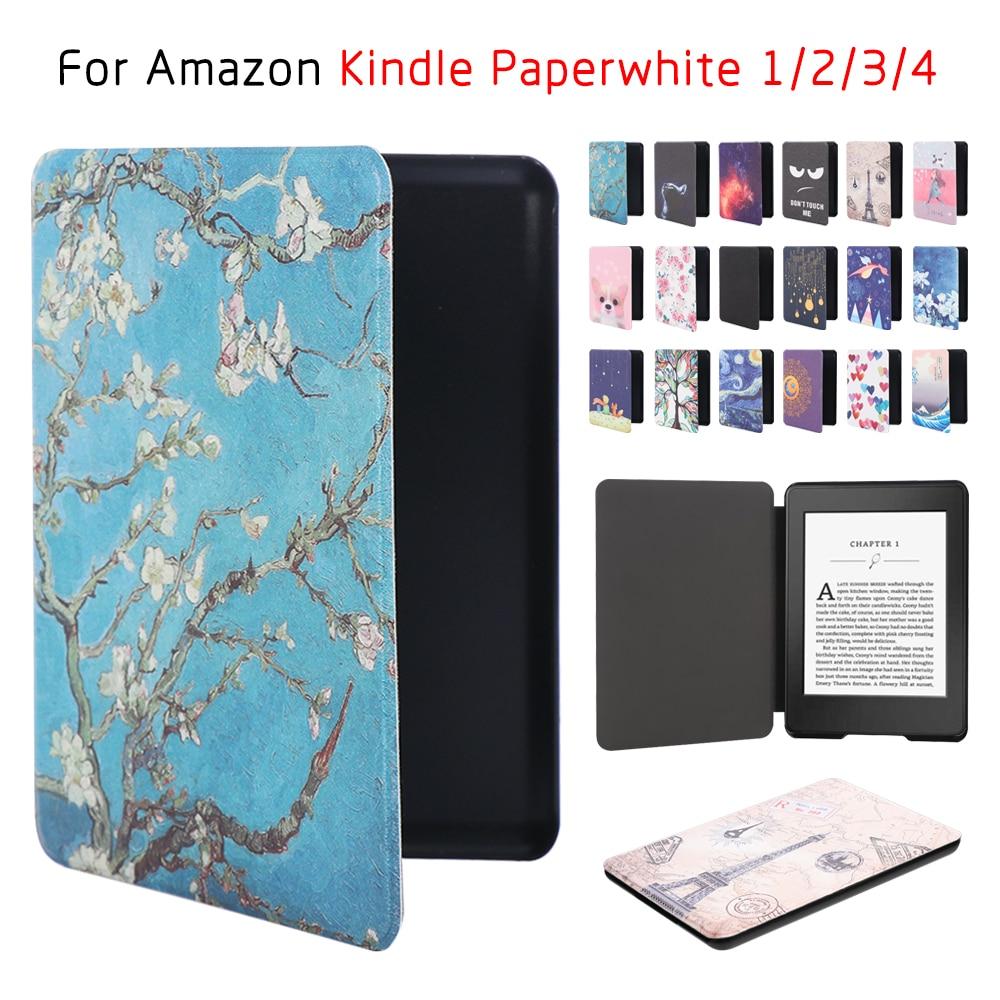 Magnético Pintado Smart Funda Manga para Kindle Paperwhite1 2 3 Yyl