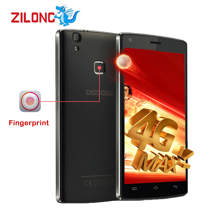 Цена за 2016 Original Doogee X5 MAX Pro 4 Г LTE Quad Core Смартфон Android 6.0 5.0MP MTK6737 2 ГБ + 16 ГБ Отпечатков Пальцев ID 4000 мАч celular
