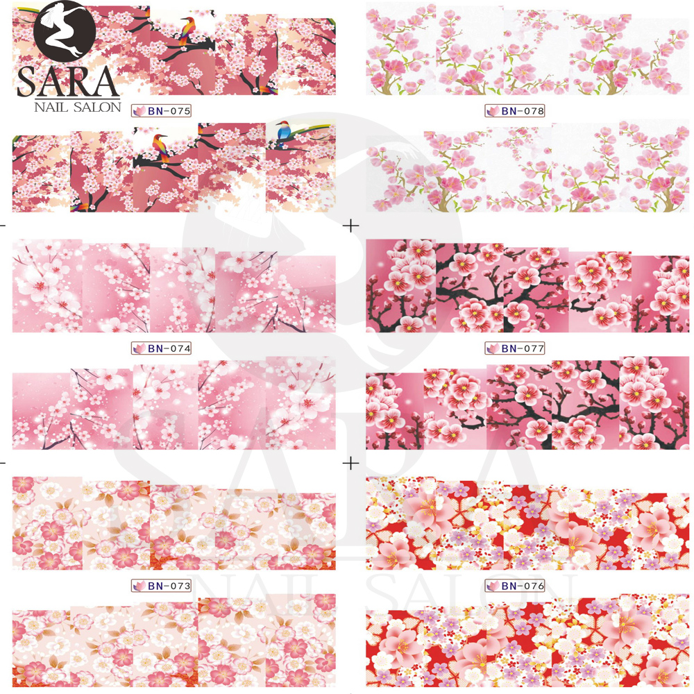 1 sheet Beauty Leopard &Flowers Water Transfer Nail Stickers Nail Art Tips Decals DIY Nails Wraps SABN073-096 2016 2sheets manicure tips beauty purples oil printing 3d diy designs nail art water transfer stickers decals full cover xf1405