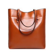 famous brand Split Leather handbag women bags high quality bucket shoulder messenger bag large capacity female clutch totes B48